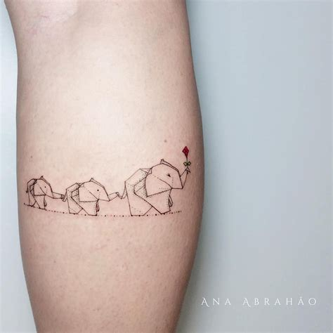 origami elephant tattoo animals with elephant and origami