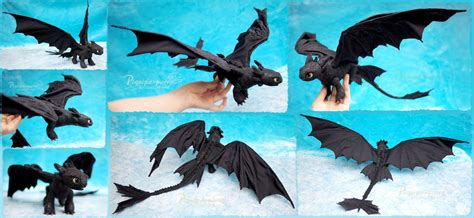 Toothless Origami - toothless the fury felt doll by piquipauparro