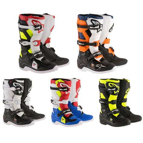 motocross racing boots alpinestars tech 7s youth motocross mx dirt bike race