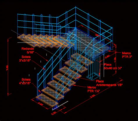 herreria ladder  dwg model  autocad designs cad