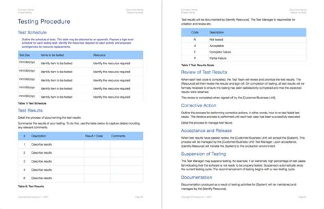 test policy template acceptance test plan apple iwork