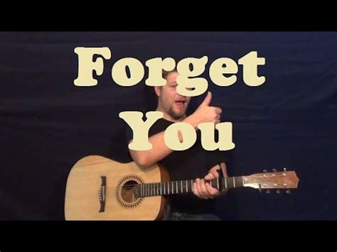 Forgot How To Play The Guitar by Free Guitar Lesson Forget You Cee Lo Green Funnydog Tv