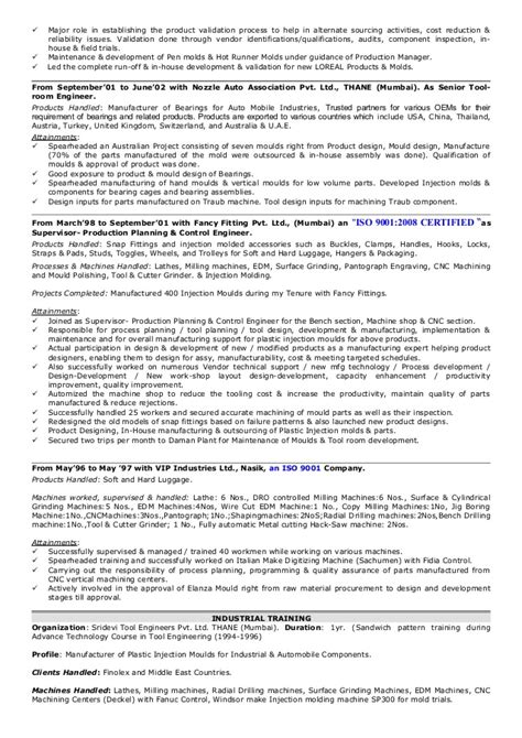 Injector Resume Resume Sandeep Patel 04092015