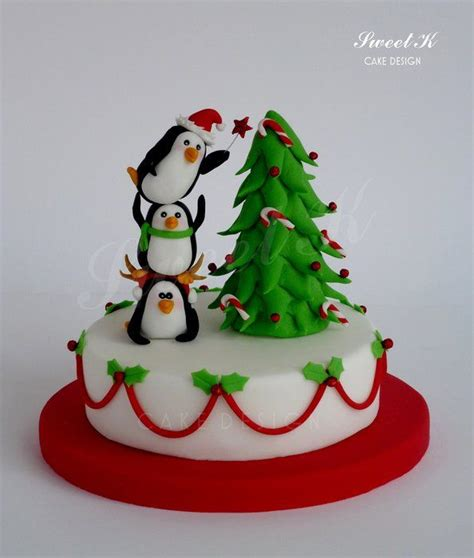 christmas cake ideas penguins decorating and website
