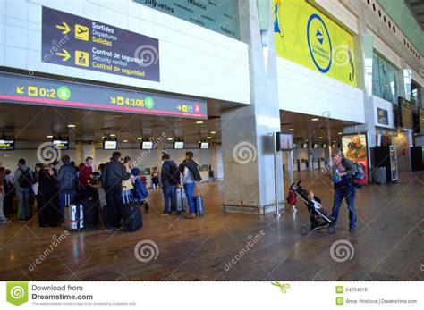barcelona departures barcelona airport departure hall editorial stock photo