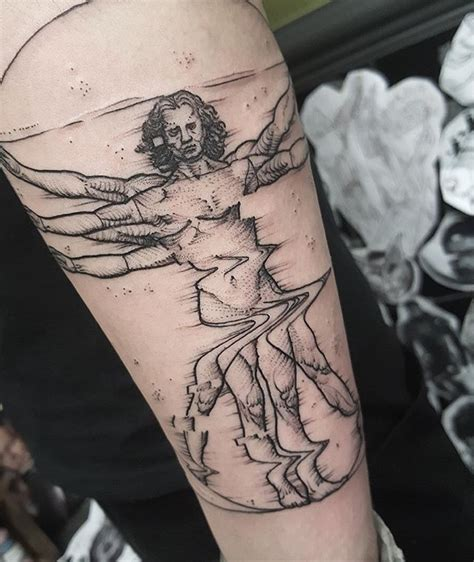 quick tattoos a vitruvian from the other day thanks mauro