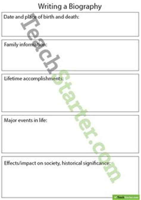 biography template year 6 biography sentence starters teach starter ela