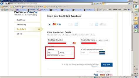 Credit Card Date Format Found One Bug Credit Card Expiry Date Month Mm F The Ebay Community