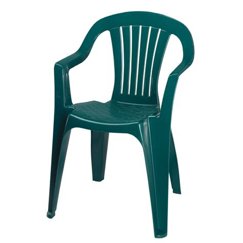 Plastic Patio Chairs Lowes Shop Adams Mfg Corp Hunter Green Resin Stackable Patio