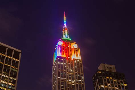 empire state color file empire state building in rainbow colors for pride