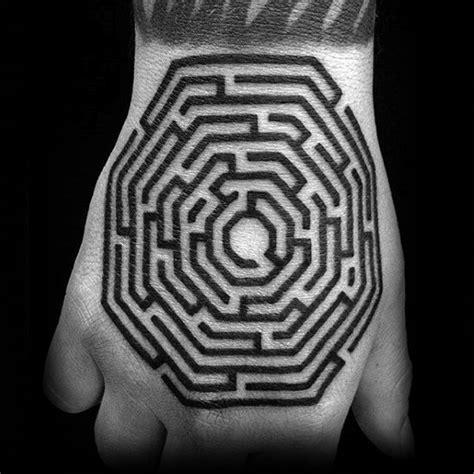 maze tattoo 70 maze designs for geometric puzzle ink ideas
