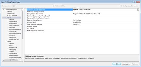 tutorial installing opencv library on visual studio windows c opencv 3 2 0 visual studio 2015 windows 7 stack