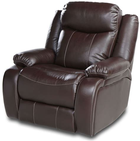 powered recliner chair genesis jamestown brown fabric power reclining chair