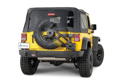 jeep swing away tire carrier modular rear bumper with swing away tire carrier for 07 15