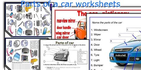 Auto Mechanic Worksheets by All Worksheets 187 Auto Mechanic Worksheets Printable