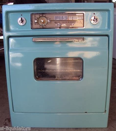 over the stove light antique vintage 1950 s ge built in oven light blue working