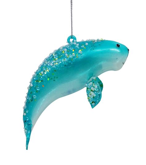 holiday cheer glass manatee ornament jo ann