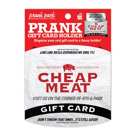 Inexpensive Gift Cards - cheap meats prank gift card holder 4 99 funslurp com unique gifts and fun