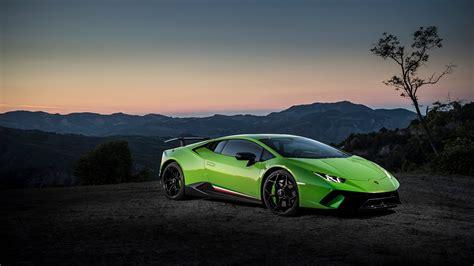 Auto Wallpaper 1920x1080 by Image Lamborghini Huracan Performante Green Automobile
