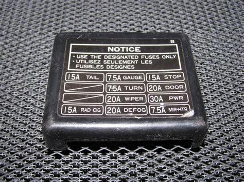toyota  oem interior fuse box cover autopartonecom