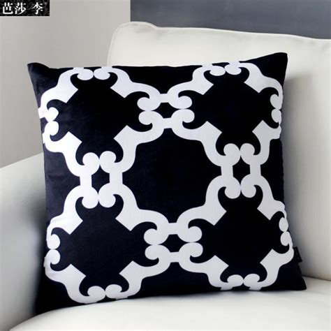 black patterned cushions h3142 new design black white cushion cover patterned