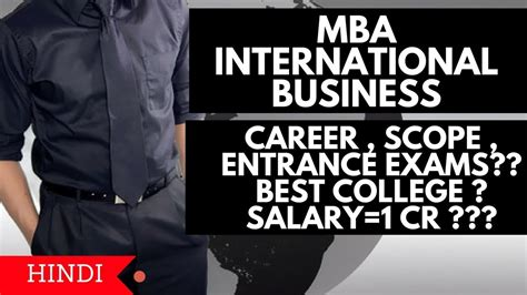 Mba International Business Starting Salary by Mba International Business Course Details Salary Best