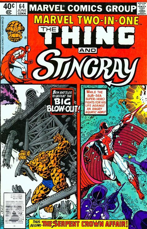 stingray with the thing in marvel two in one comic