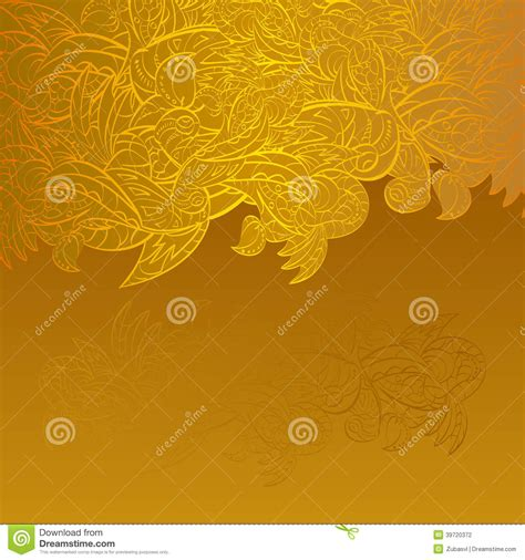 post card template event background vintage invitation card on gold background with leaves