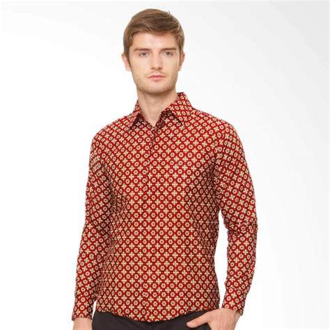 Kemeja Batik Priasabit Merah jual parama batik slimfit new year 2 kemeja batik pria merah harga kualitas