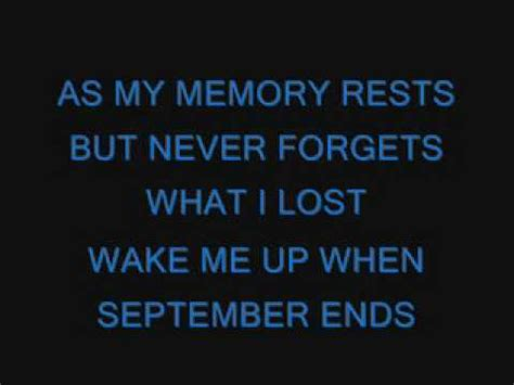 me up when september ends testo me up when september ends green day significato
