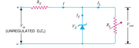 zener diode diagram zener diode voltage regulator electronics post