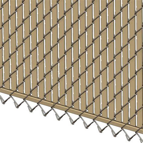 pexco fence slats pds bl chain link fence slats bottom lock 6 foot beige
