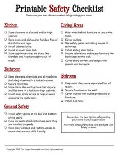 safety plan for home printable home safety checklist the happy housewife