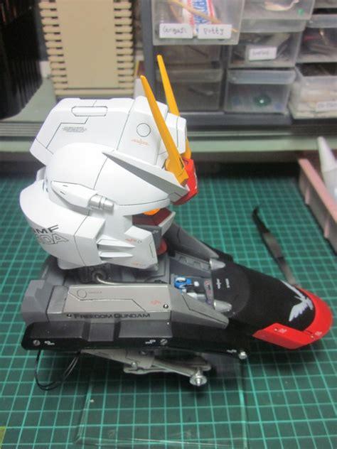 Acrysion N 25 Sky Blue Model Kit Gundam 1 35 gundam freedom bust modeled by studio lecek pippin pedder on fb photoreview
