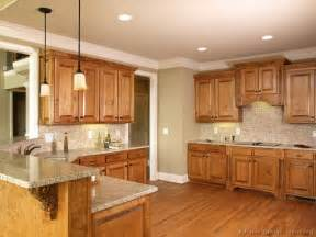 Kitchen Color Ideas With Wood Cabinets Pictures Of Kitchens Traditional Medium Wood Cabinets Golden Brown