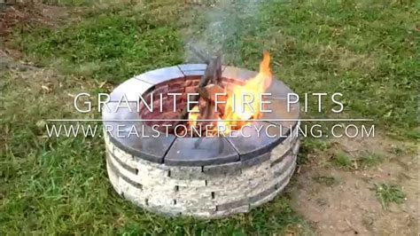 granit feuerstelle how to install a granite pit