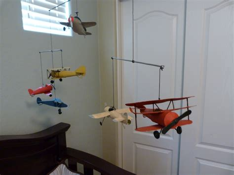 as vintage airplane nursery