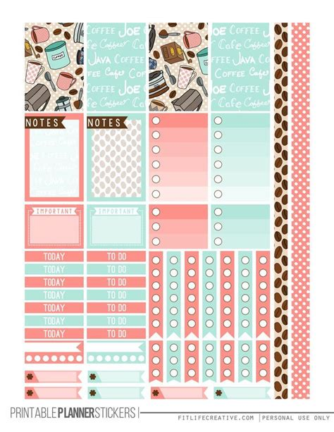 free printable planner pages classic size but first coffee free printable planner stickers for the