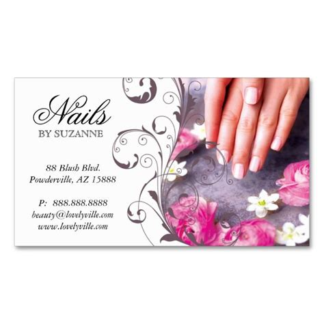 nail business card template 1938 best nail technician business cards images on