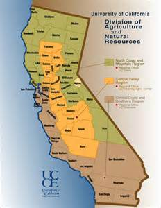 california agricultural region map california mappery