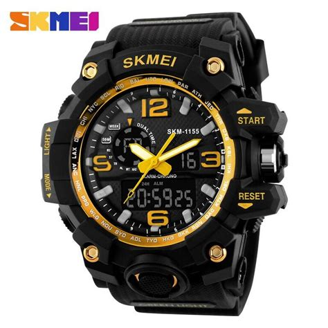 Skmei Jam Tangan Digital Pria Dg1140 Golden skmei jam tangan analog digital pria ad1155 black gold