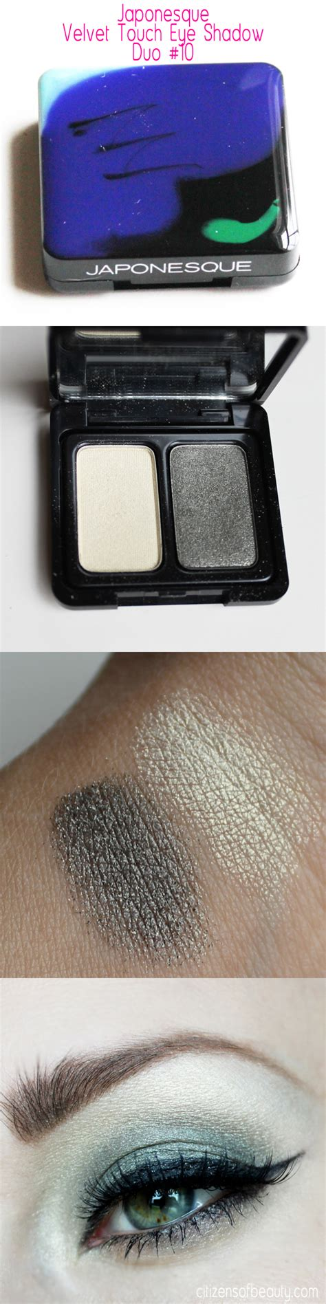 Review Eye Shadow Viva Duo japonesque velvet touch eye shadow and makeup brush review
