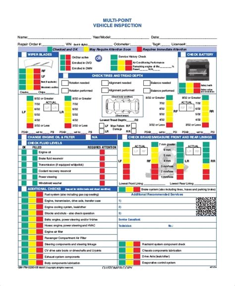 Vehicle Inspection Report Pdf Template Vehicle Inspection Form Template Beepmunk