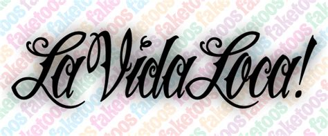 la vida loca tattoo tattos josh font free language fonts