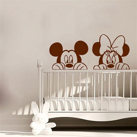 mickey mouse wall stickers mickey wall decal minnie mouse vinyl stickers by amazingdecalsart