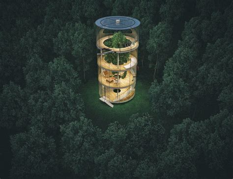 albero in casa albero in casa di vetro aibek almassov architettura 7 keblog