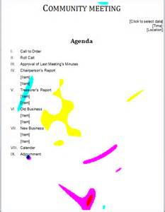 professional agenda templates for ms word document templates