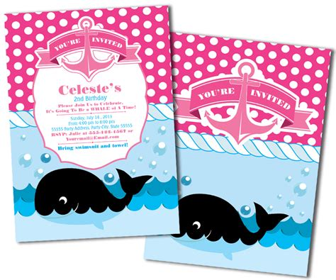 invites and events metro sailor whale nautical invitations metro events metro