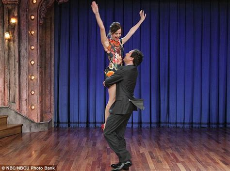emma watson tv shows emma watson shows jimmy fallon her moves daily mail online