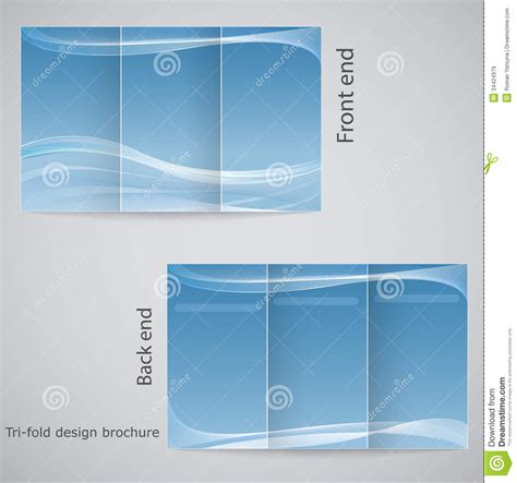 tri fold brochure layout design template tri fold brochure design royalty free stock images